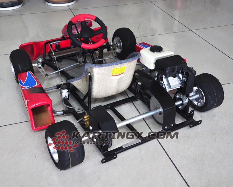 4 troke 2.4HP dry clutch 90cc Racing Go Kart for Kids